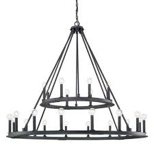 pearson black iron twenty four light chandelier