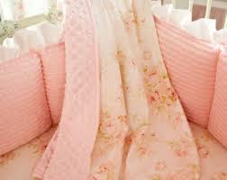 Crib blanket | Etsy & Baby Girl Crib Bedding: Pink Floral Crib Blanket by Carousel Designs Adamdwight.com