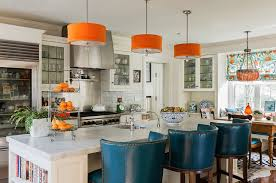 Nice New Kitchen Trends With Teal And Orange Kitchen Accents