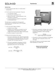Transformer Sizing Chart Selection Steps Emerson Industrial Automation