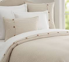 flax wheaton stripe linen cotton blend patterned duvet cover sham pottery barn