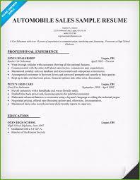 Sample Car Salesman Resumes Used Car Salesman Resume Great Figure Example Resume Sample Resume