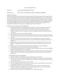 director job description director membership and events position description