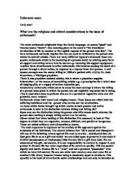 moral legal and ethical issues related to euthanasia essay   euthanasia essays and papers