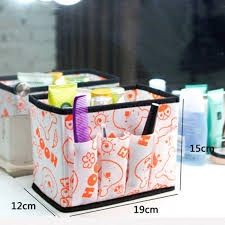 home office desktop decor cosmetic storage box organiser foldable colourful makeup conner sundries storage organizers holder in storage bo bins from