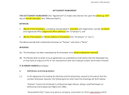Settlement Agreement Template – Uk Template Agreements And Sample ...