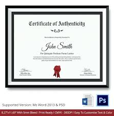 Certificate Of Authenticity Template Fascinating Letter Of Authenticity Template Royaleducation