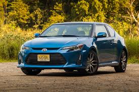 2016 scion tc from front blue streak