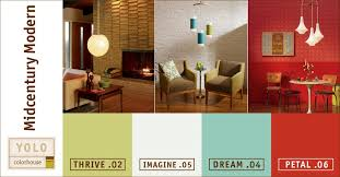 Well, paint company YOLO Colorhouse has gone on to create a mid-century  modern color palette based on ...