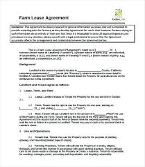 Lease Agreement Word Template Magnificent 448 Farm Rental Agreement Template Cash Rent Sample Lease Form 48