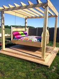 swinging outdoor bed outdoor swing bed outdoor hanging bed plans outdoor swinging bed designing inspiration