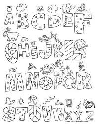 Small Picture Alphabet Coloring Pages A Z Coloring Print Alphabet Coloring Pages