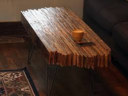 diy coffee table made with old pallet wood homemade and hand made