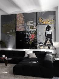 cool bachelor pad living room with wall