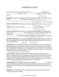 Sample Commercial Rental Agreement