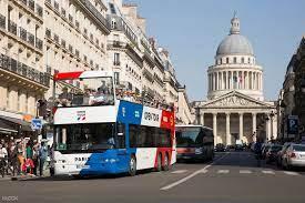 บัตรโดยสารรถบัสเปิดประทุนชมเมืองปารีส