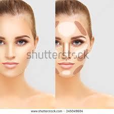 contouring make up woman face contour and highlight makeup
