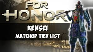 Kensei Matchup Tier List For Honor
