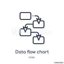 Data Flow Chart Icon From Multimedia Outline Collection