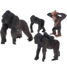 Details About 4 Pieces Simulation Gorilla Figure Animal Model Home Ornaments
