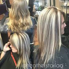Heavy Blonde Highlight With A Dark