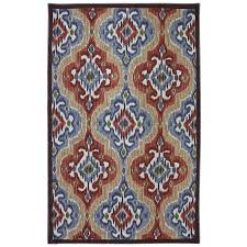 Mohawk Home Mystic Ikat Multicolor Rectangular Outdoor Tufted Area Rug  (Common: 8 x 10