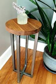 metal and wood side table exquisite cream small round metal accent table in luxury uptown small metal and wood side table