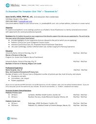 nurse anesthetist resumes nurse practitioner sample resume melnic