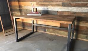 industrial modern furniture. Enthralling Reclaimed Wood Desk On Industrial Modern Home And Furniture: Furniture