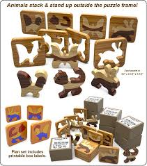 learning toys scroll saw puzzle pals wood toy plan set