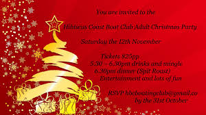 adult christmas party hibiscus coast boating club inc christmas invite 2016 web fb