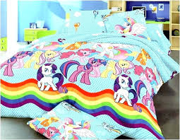 my little pony bedroom set toddler bedding blue bed cute