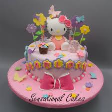 Classic Hello Kitty Pink Cake 1 Tier Customized Cake Singapore