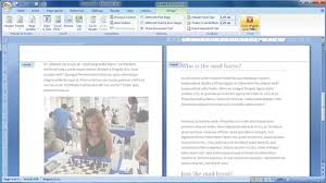 How To Write A Pamphlet On Word Make A Booklet From Scratch In Word 2007