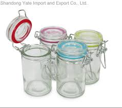 3 ounce mini clear glass e jar with airtight lids for canning