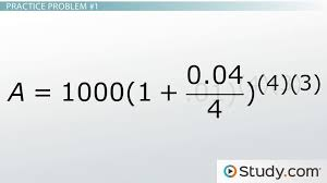 compounding interest formulas calculations examples lesson transcript study com
