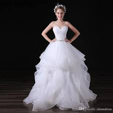 sweetheart diamonds organza wedding dresses charming white tiered