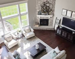 Living Room Furniture Arrangement Similar Floor Plan And Corner Fireplace To Our House Different