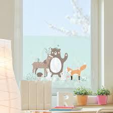 Fensterfolie Sichtschutz Fenster Forest Friends Mit Waldtieren