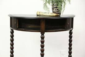furniture stunning round console table 26 half
