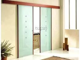 kitchen glass sliding door captivating doors without bottom track treatments