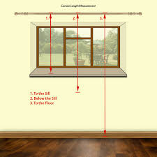 fabulous width of curtains for windows ideas with how to measure for curtains step step guide