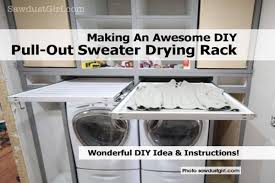 Making An Awesome Diy Pull Out Sweater Drying Rack And Lovely Sweater Drying  Rack (View