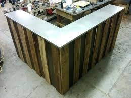 rustic reception desk cherry finished wooden desk modern rustic reception desk