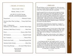 Obituary Program Sample Obituary Template Memorial Service Program