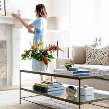 decorate with coffee table books