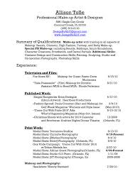 Freelance Makeup Artist Resume Examples