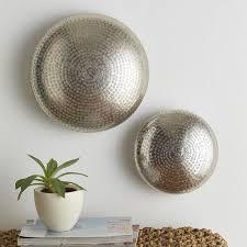 round textured drum nickel wall decor