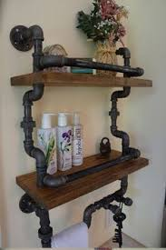industrial bathroom lighting. industrial bathroom light fixture pipe shelf system for the perfect chic lighting i