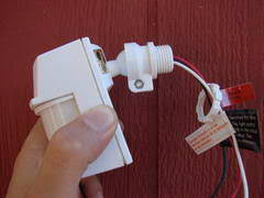 how to wire a motion detector Wiring Diagram For Outside Light Sensor this fixture base has a spare threaded opening where we can mount the motion detector head if an opening was not available, another lamp holder base could wiring diagram for outdoor sensor light